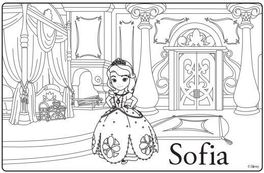 free downloadable sofia the first coloring page party activities disney junior princess - First Coloring Book