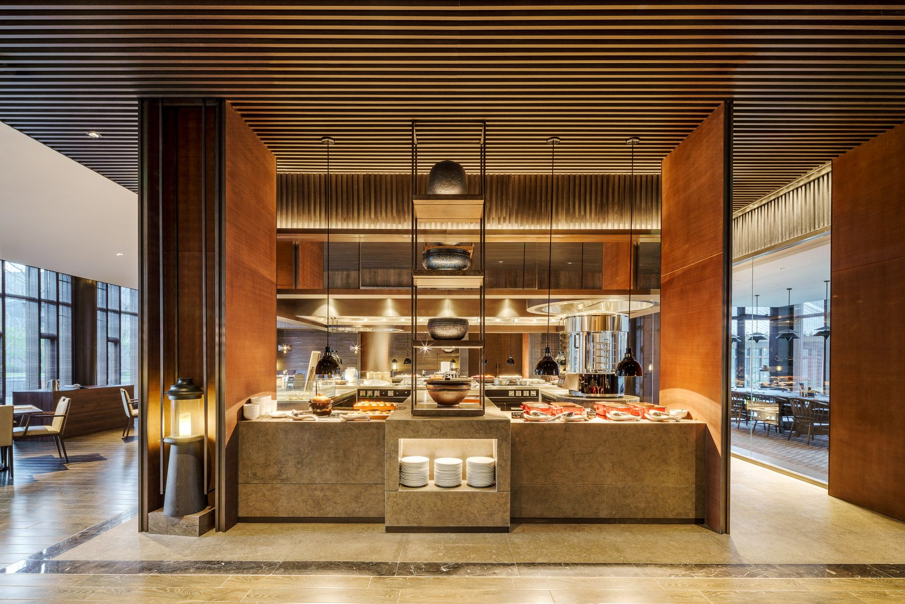 Buffet Area at JW Marriott Qufu Luxury hotels interior