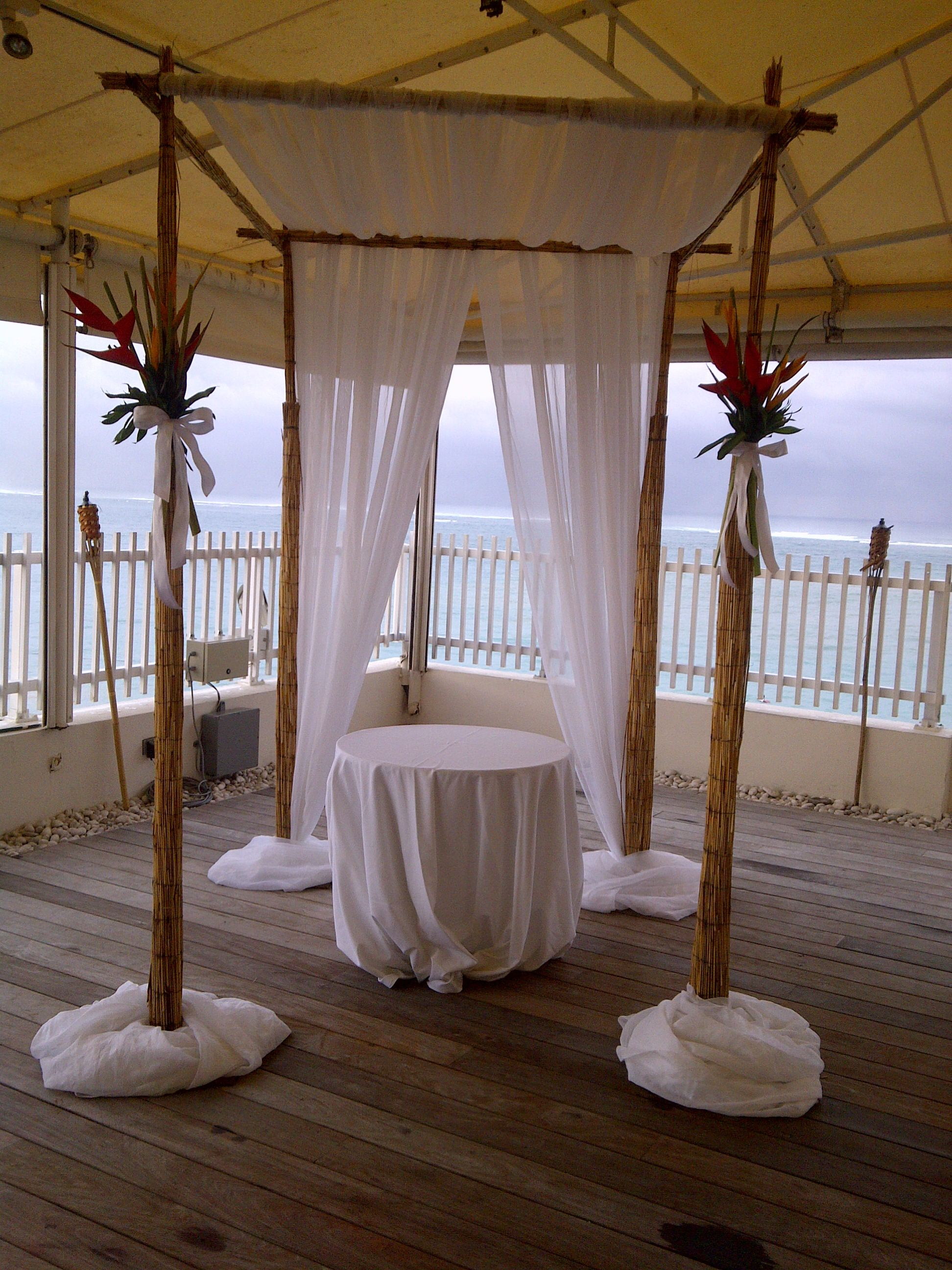 Bamboo canopy for a ceremony at the El San Juan Hotel and Casino #bamboo # & Bamboo canopy for a ceremony at the El San Juan Hotel and Casino ...