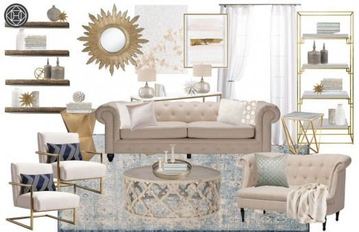 Classic Glam Traditional Living Room by Havenly #livingroom #living #room #brown #havenlylivingroom Classic Glam Traditional Living Room by Havenly #livingroom #living #room #brown #havenlylivingroom