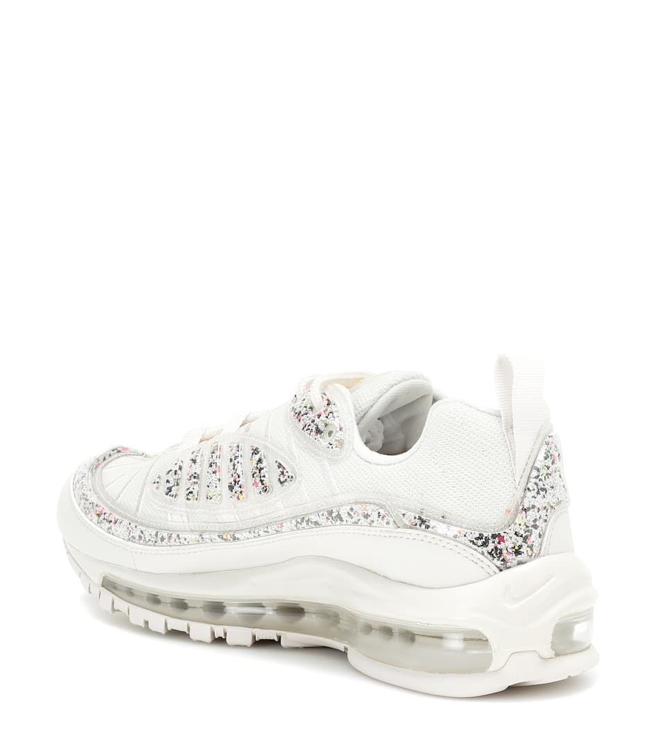 Air Max 98 LX sneakers in white and multicolored #Sponsored