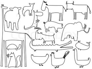 Tiere Umrisse Animals Black And White Animal Outline Zoo Coloring Pages