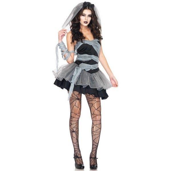 CORPSE BRIDE COSTUME - FANCY DRESS DEAD AND BURIED MUMMY BRIDE - zombie halloween ideas