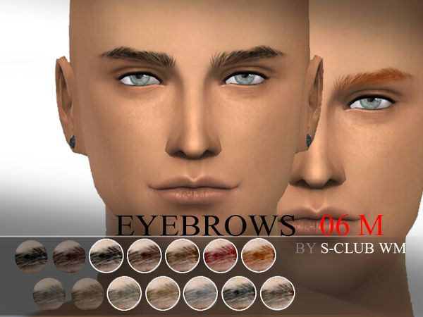 Eyebrows 06 by WM S-Club at TSR via Sims 4 Updates