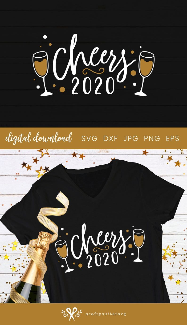 Cheers 2021 Svg, New Year Decoration, New Year 202