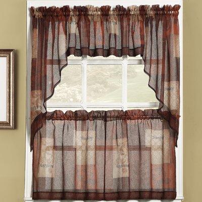 Winston Porter Bigelow Cafe Curtains Size 36 H X 56 W Colour Multi In 2020 Cafe Curtains Kitchen Curtains Rustic Kitchen Design