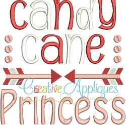 Candy Cane Princess - 4 Sizes! | Princess | Machine Embroidery Designs | SWAKembroidery.com