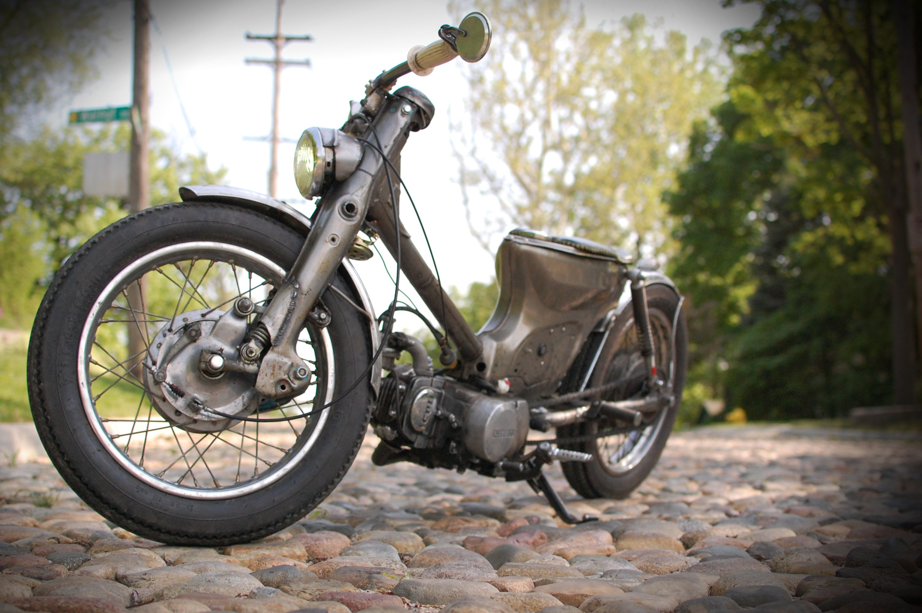 81 Honda C70 Stretched Bobber Cars And Motorcycles Pinterest
