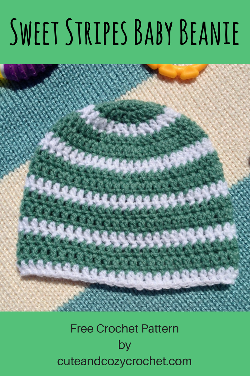 Sweet Stripes Baby Beanie | Tejido