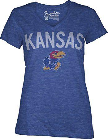NCAA Kansas Jayhawks Junior's Vintage Arch Short Sleeve T-Shirt, Medium, Royal