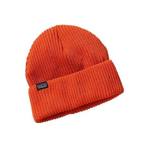 Patagonia Fisherman s Rolled Beanie - Cusco Orange ( 29) ❤ liked on Polyvore  featuring accessories 4b46037b3f21