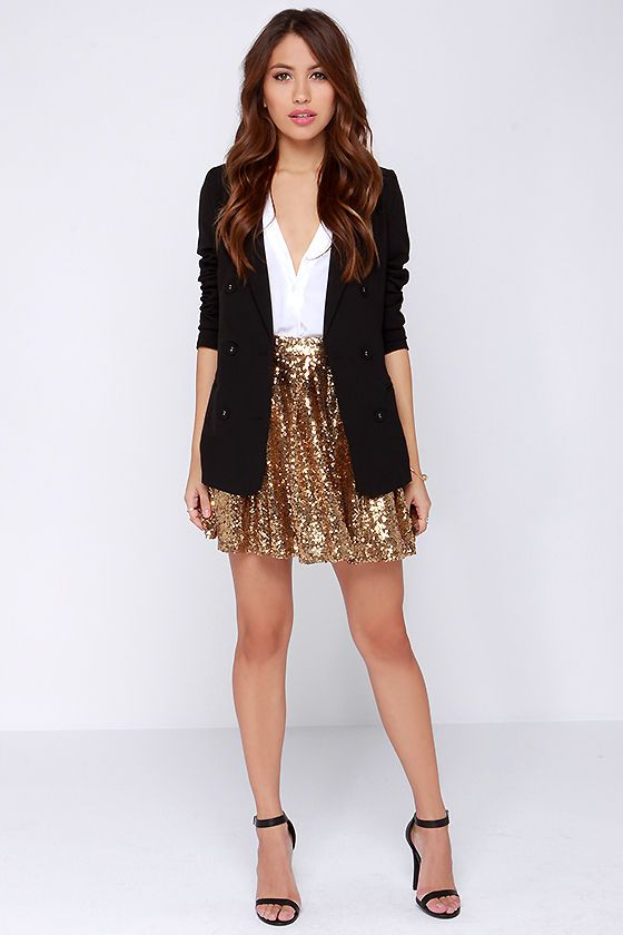 Cheers to You! Gold Sequin Skirt | Discover more ideas about Gold ...