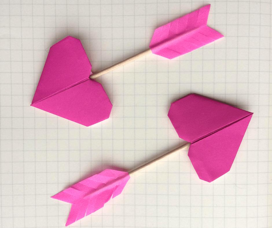 Valentine Origami Cupids Arrow Tutorial The Paperdashery Blog