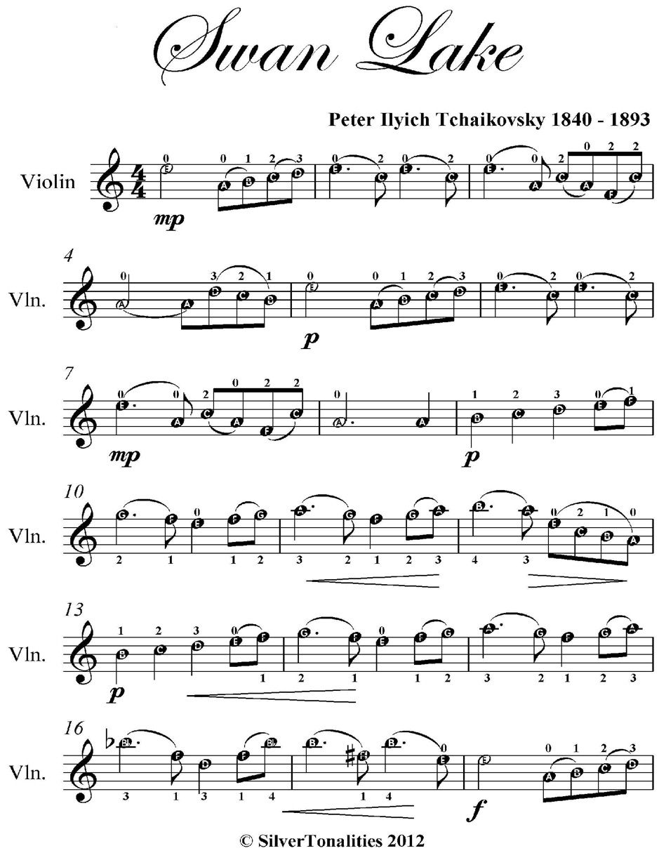 Swan Lake Easy Violin Sheet Music Spon Easy Violin Sheet