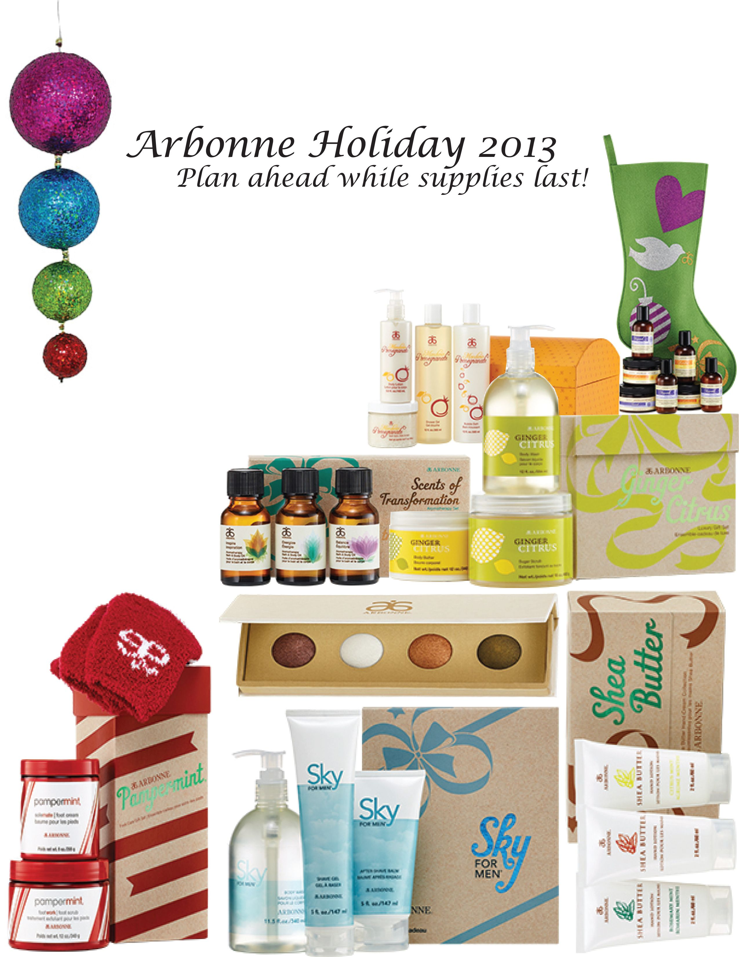 Holiday Products are in! Start enjoying them before the holidays and plan ahead with great gifts! These make for great teacher gifts, client and employee gifts too! Contact me at maryanne.beal@gmail.com for more info and Shop Arbonne online at maryannebeal.myarbonne.com