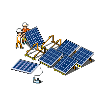 Pt Solarinstall 01k Png Pixel Art Roof Solar Panel Design