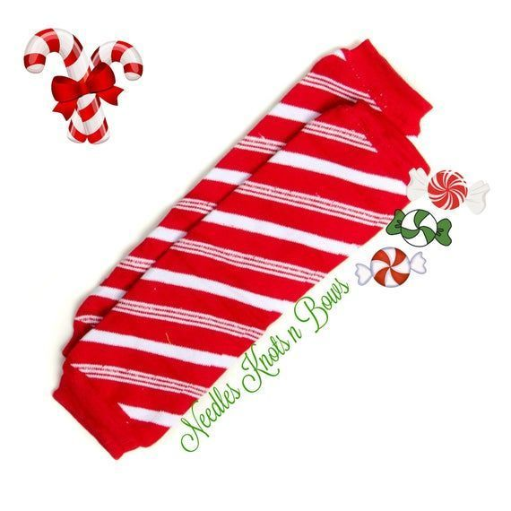 Candy Cane Leg Warmers, Christmas Leg Warmers, Candy Cane Striped Christmas Leg Warmers, Boys...