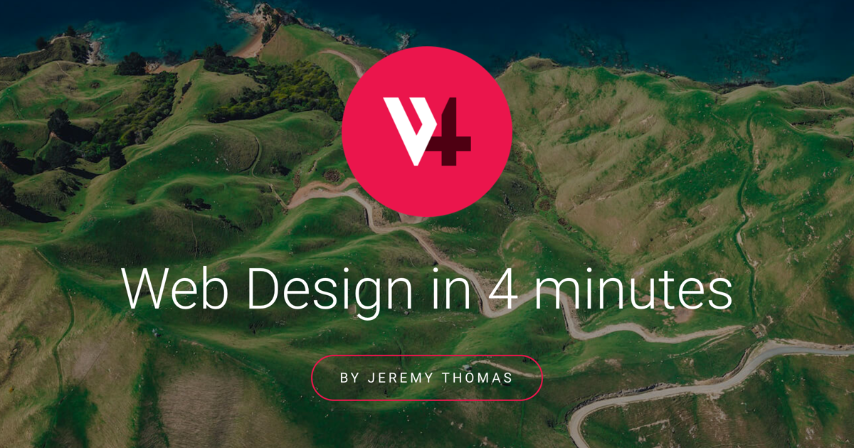 Learn the basics of web design in 4 minutes with this