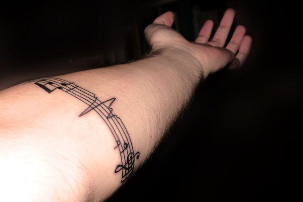 Tatuajes Partituras Musicales music tattoo   tatoo ideas   pinterest   tatuaje musica, tatuajes