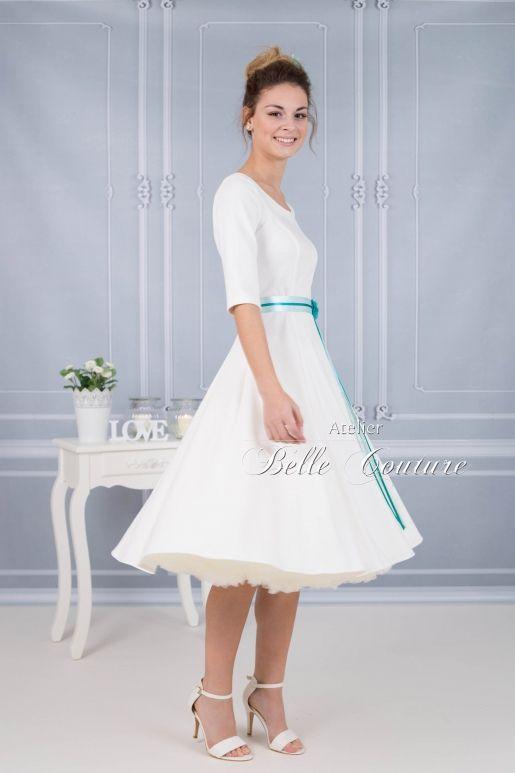 """Atelier Belle Couture   schlichtes klassisches Brautkleid """"Luise"""" Jersey"""