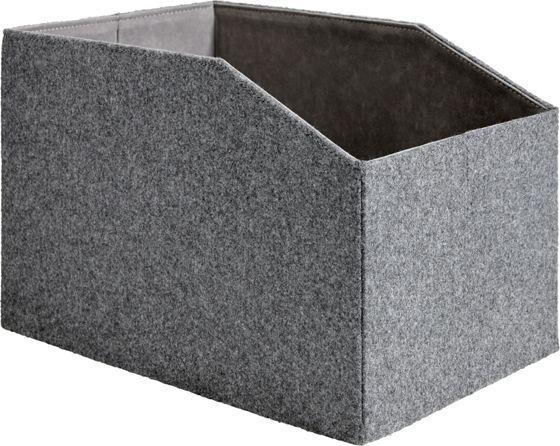Aufbewahrungsbox aus Filz in Grau - stilvoll und praktisch