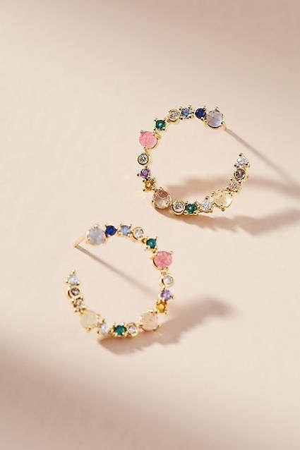Anthropologie Cerise Petite Hooped Post Earrings 5zGj7hC
