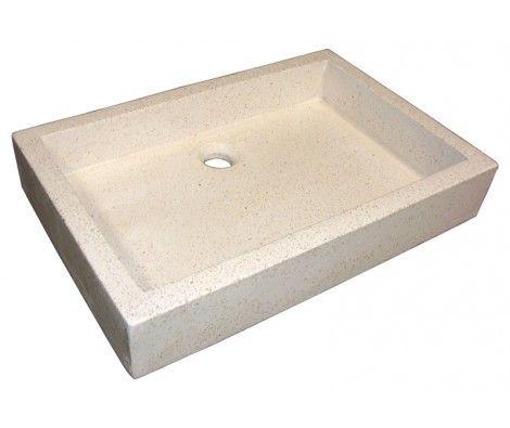 vasque timbre pierre terrazzo 40 x 60 - LT AQUA+ | SALLES DE BAIN ...