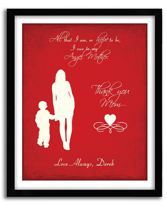Personalized Gift For Mom Mothers Day Mother Son From Kids Mum Birthday Gif