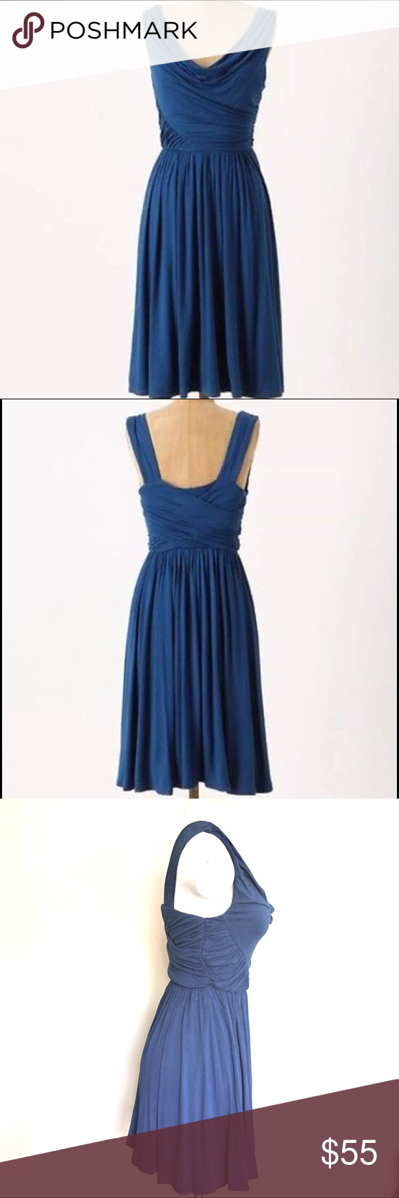 07edc3346fe3 Spotted while shopping on Poshmark: ❣️ANTHROPOLOGIE DELETTA RUCHED/DRAPED  JERSEY DRESS! #poshmark #fashion #shopping #style #Anthropologie #Dresses &  ...