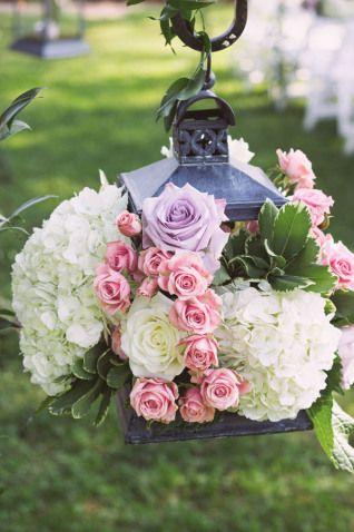 flowers in lantern