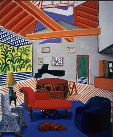David Hockney, \u0027No one home\u0027 Art, painting, stil life 3 - Peindre Fenetre Bois Interieur