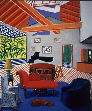 David Hockney, \u0027No one home\u0027 Art, painting, stil life 3 - Peindre Fenetre Bois Interieur