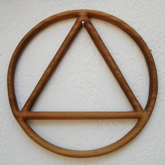 Sobriety Circle And Triangle Alcoholics Anonymous Symbol Sobriety
