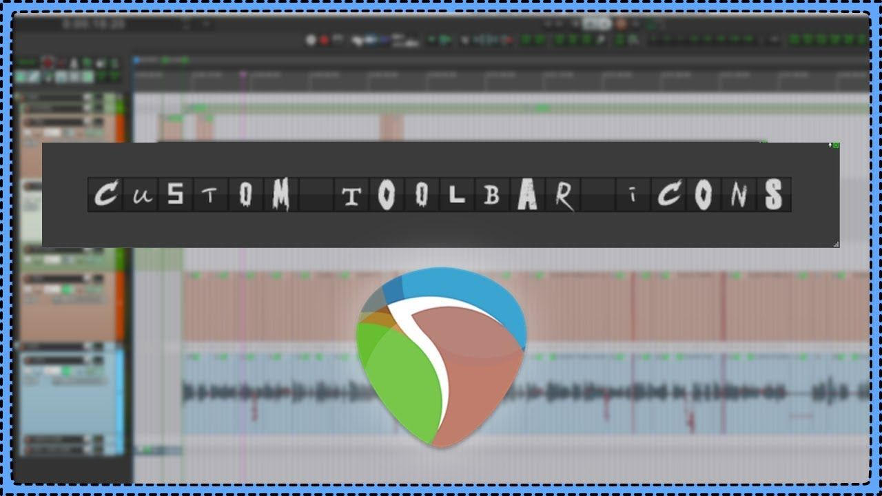 How to make Custom Toolbar Icons for REAPER | Music