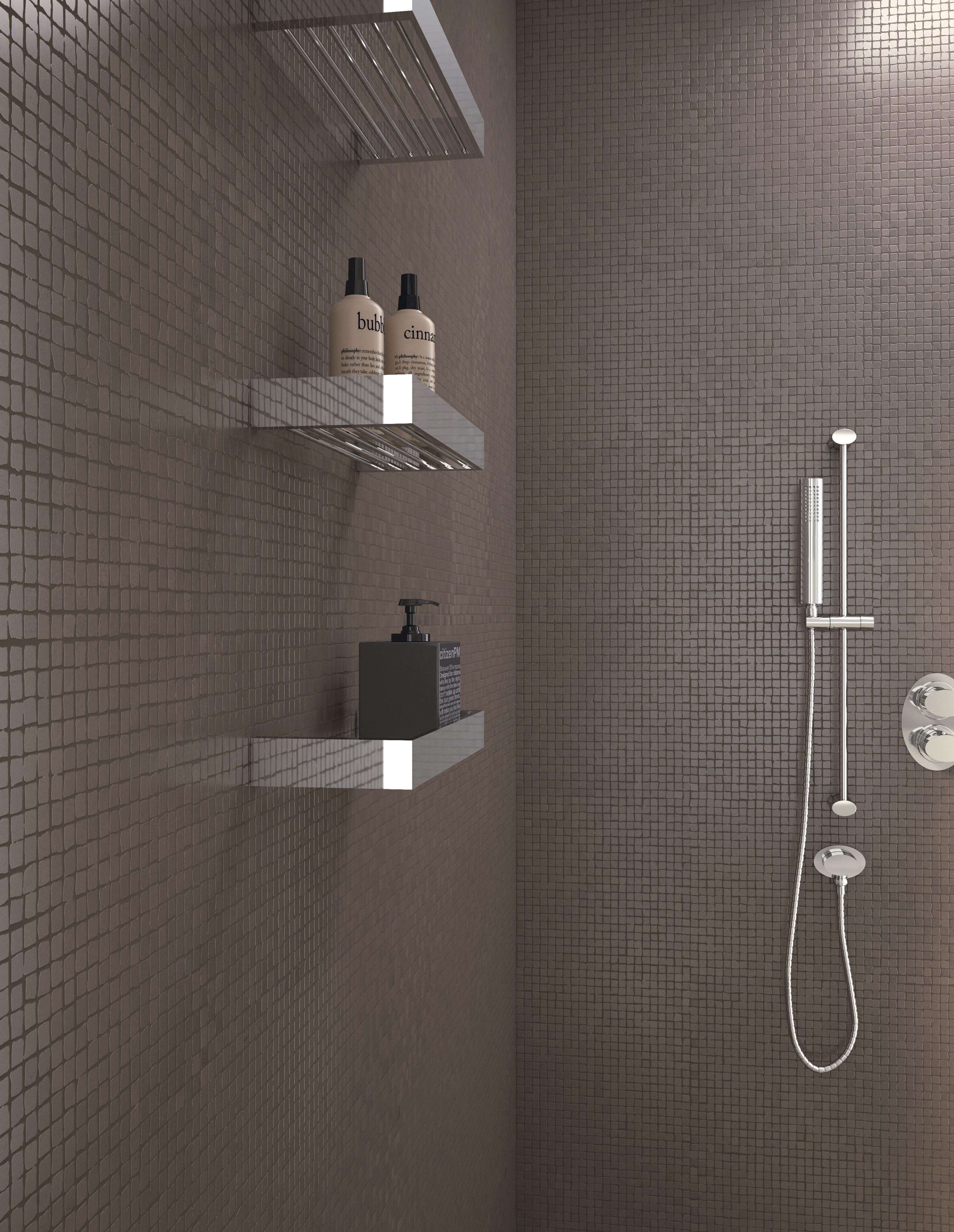 Mosaique Sol Salle De Bain 30x30 Berry Naturel Rectifie Collection