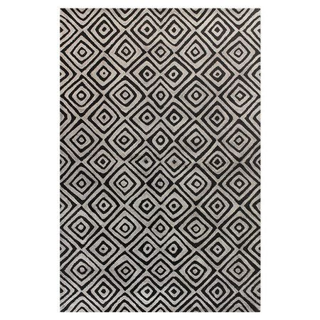 Hand Tufted Wool Rug With A Tribal Inspired Diamond Motif Product Rugconstruction Material 100 Wool Wool Area Rugs Rugs Area Rugs