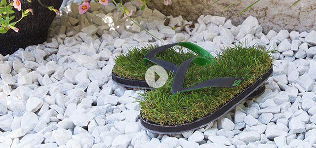 271b50c54 Grass Flip Flops - Synthetic Grass Sandals