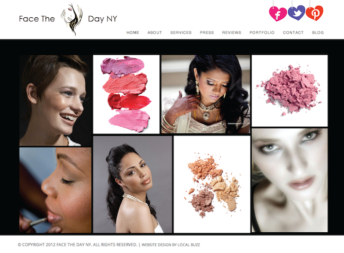 makeup artist website design / beauty website design / clean ...