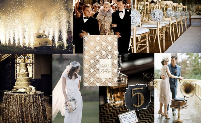 the great gatsby inspired wedding mood board ivillage uk