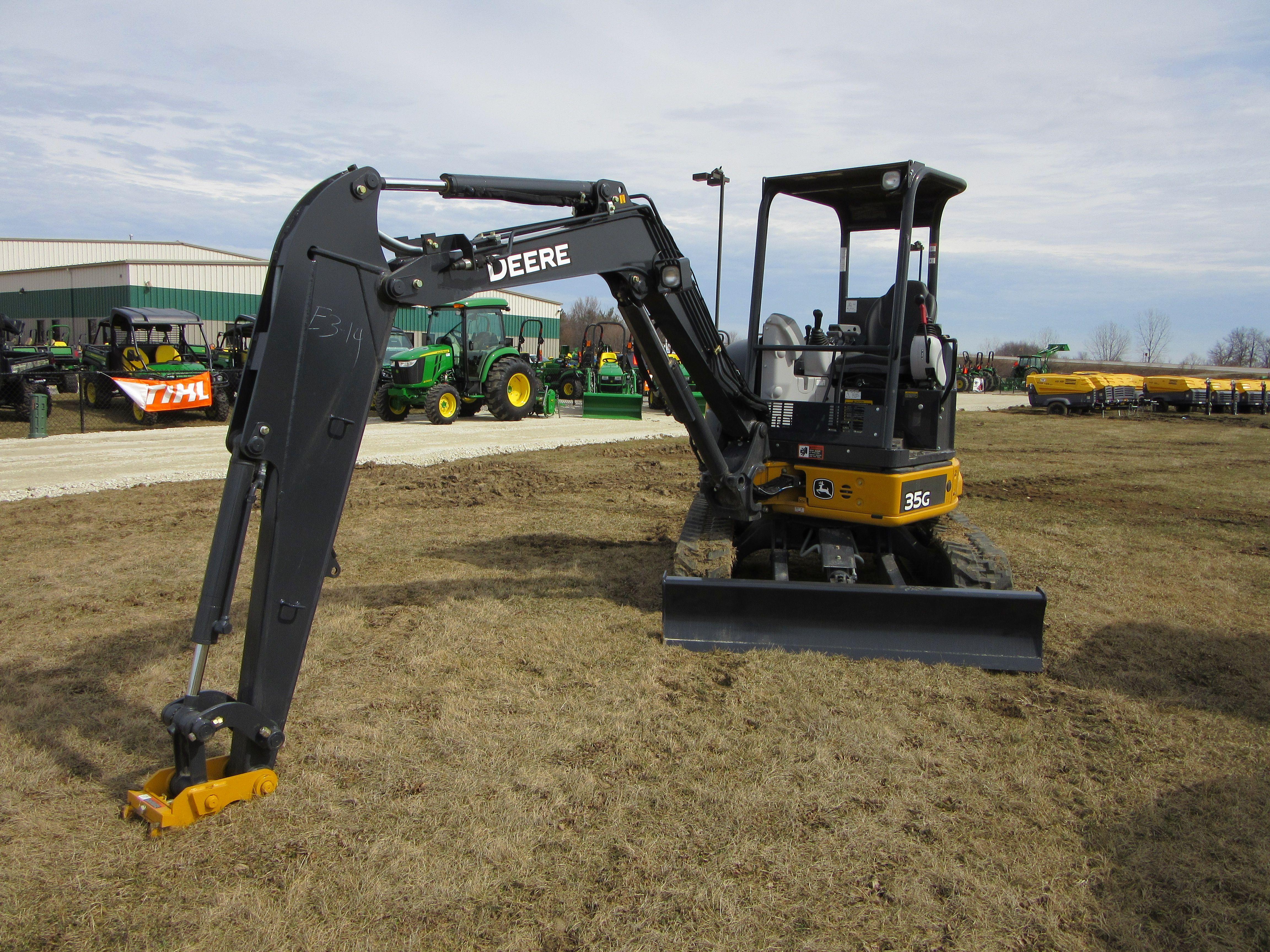 John Deere 35G 1 JD construction equipment Pinterest