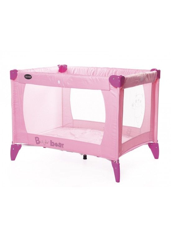 O Baby Obaby B Is For Bear Travel Cot Pink Clearance O Baby B