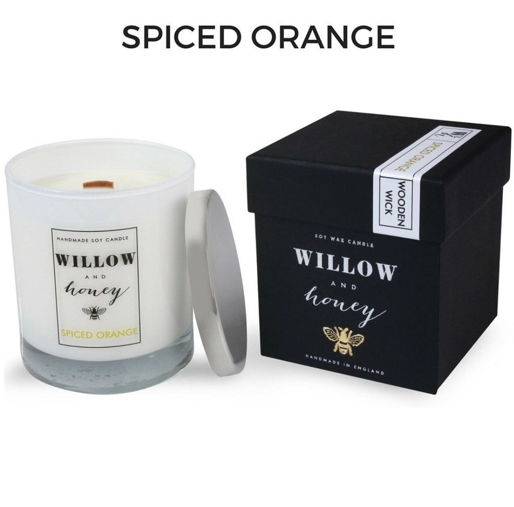 Spiced Orange 220g Wooden Wick Soy Candle 50hr