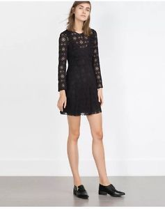 CURRENT SEASON ZARA delicate guipure frill lace dress aw 2015   Size S❤️