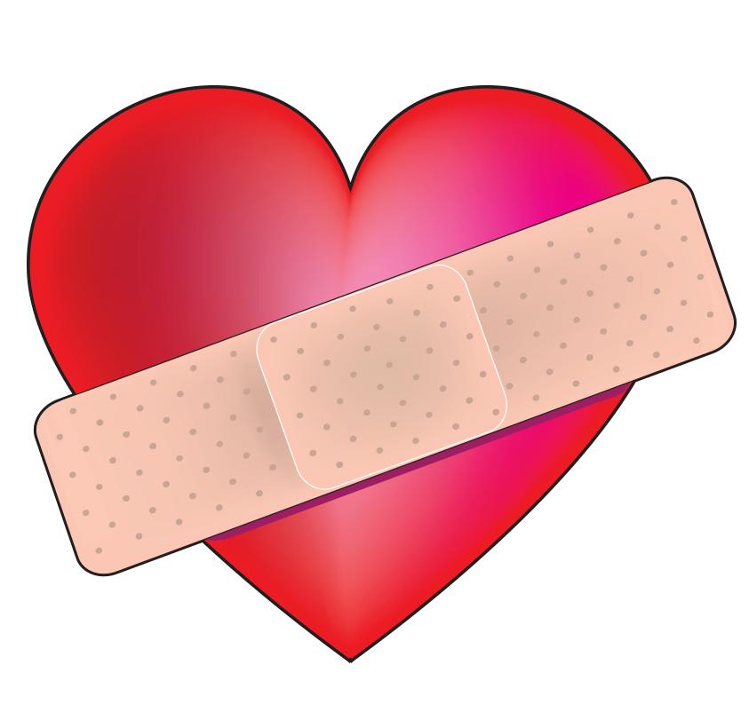 Bandaged Heart For Facebook Heart poster, Heart art