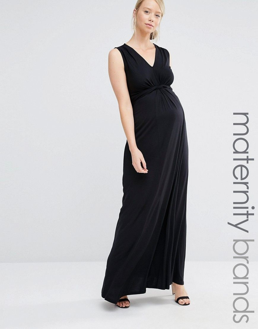 Image 1 of bluebelle maternity knot front sleeveless maxi dress image 1 of bluebelle maternity knot front sleeveless maxi dress ombrellifo Choice Image