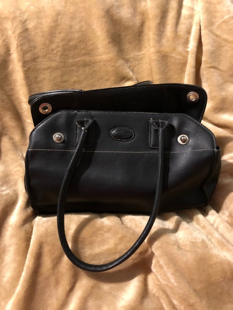 dc641f1a69 Tods Black Leather Handbag  fashion  clothing  shoes  accessories   womensbagshandbags (ebay