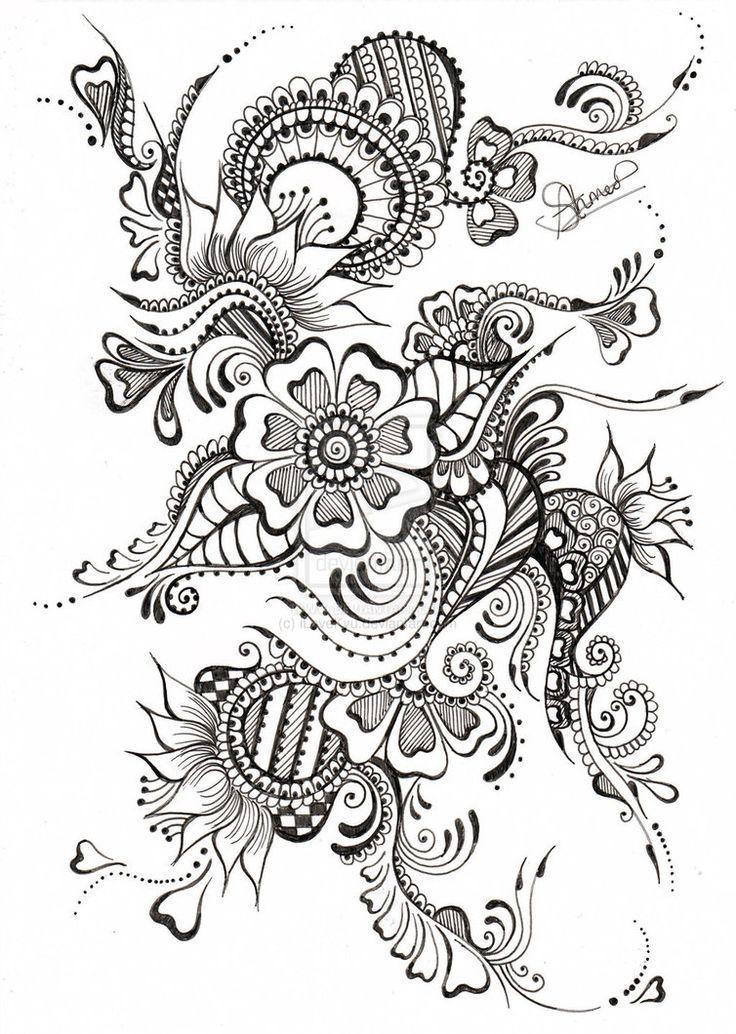 coloriage anti stress tatouage colorier dessin imprimer - Dessins Anti Stress
