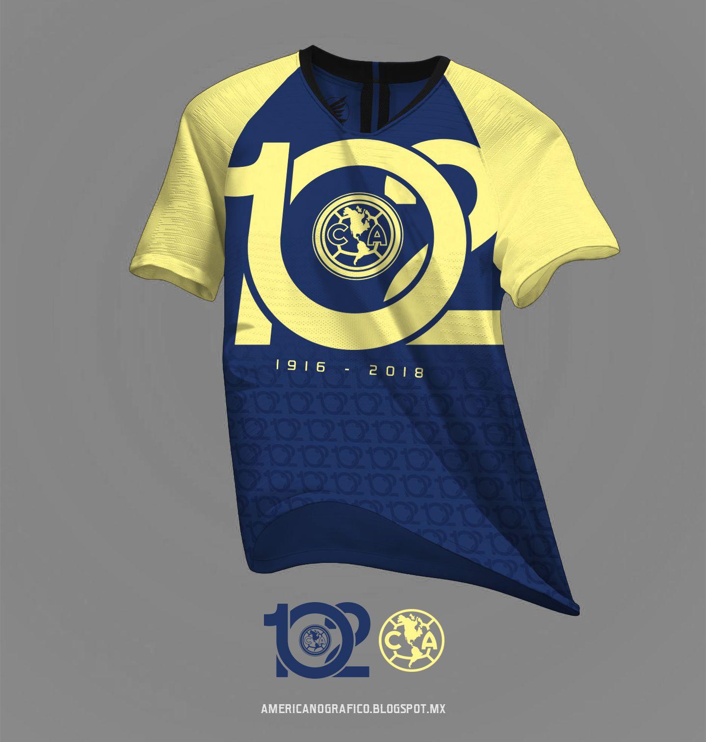0fb928aba3a Playera del Club America - 102 Años (2)