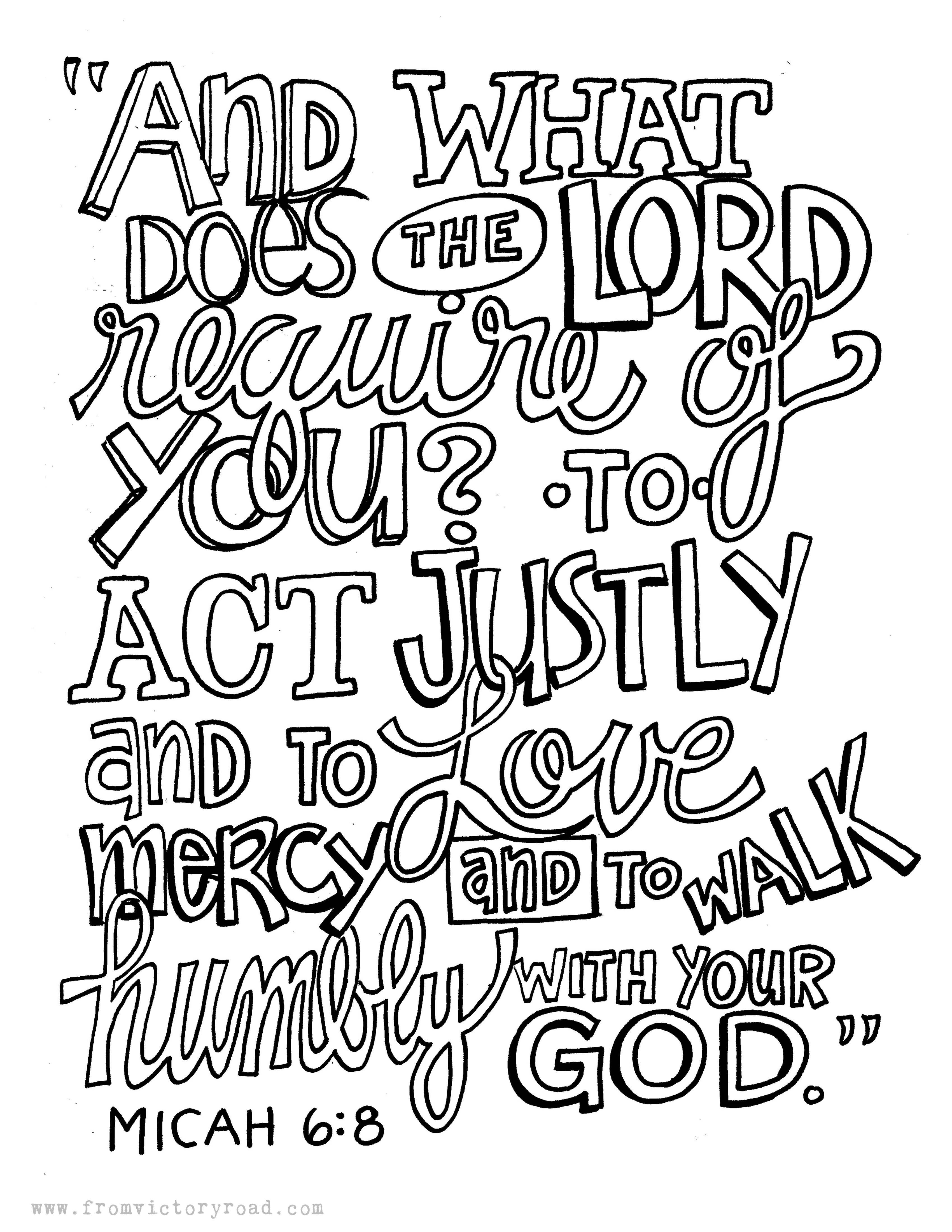 Image result for Micah 6:8 coloring page | Church | Pinterest ...