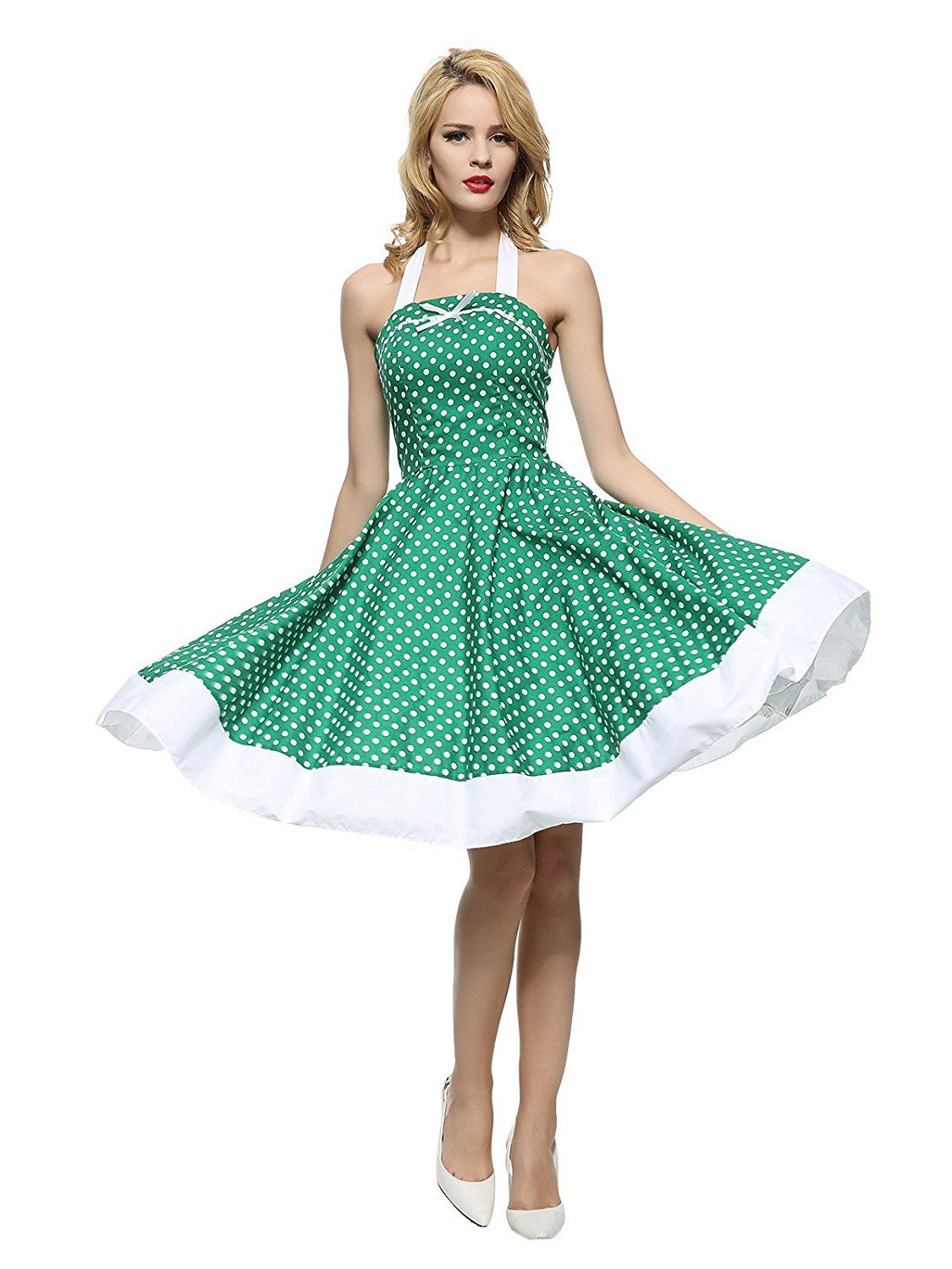 942b93813aa5 Maggie Tang Women's 1950s Vintage Rockabilly Dress at Amazon Women's  Clothing store: ...